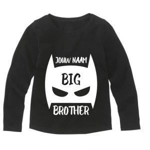 Gepersonaliseerd Big Brother t-shirt met naam lange mouw