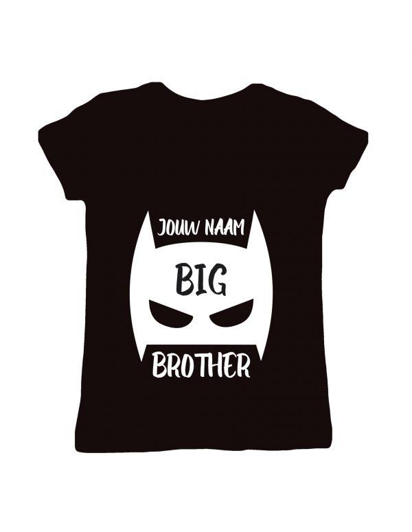 Gepersonaliseerd Big Brother t-shirt met naam korte mouw