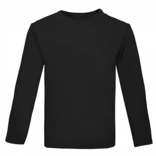 T-Shirt Zwart Lange Mouw Zelf Ontwerpen met Tekst of Afbeelding Gepersonaliseerd