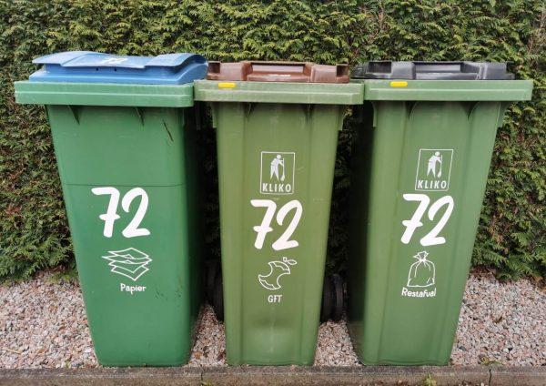 Kliko stickers huisnummer sticker afvalscheiding