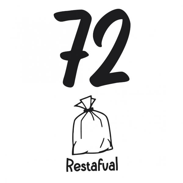Kliko Restafval huisnummer sticker