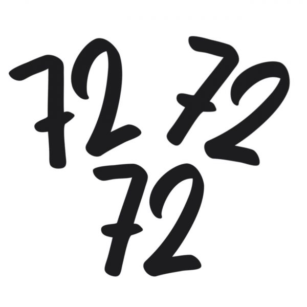 Huisnummer sticker set van 3